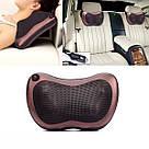Роликовый массажер для спины и шеи Мастер массажа Massage pillow GHM 8028 массажная подушка в автомобиль CHM, фото 2