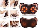 Роликовый массажер для спины и шеи Мастер массажа Massage pillow GHM 8028 массажная подушка в автомобиль CHM, фото 10