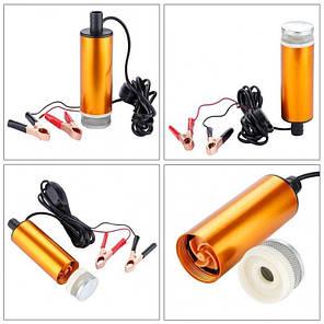 Насос топливоперекачивающий, погружной, D=50 12V алюмин. корпус, с фильтром, фото 2