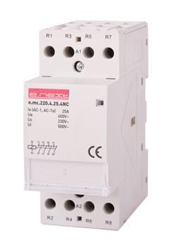 Модульний контактор e.mc.220.4.25.4nc, 4р, 25А, 4nc, 220В Енекст [p005024]