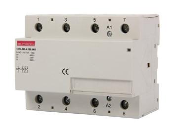 Модульный контактор e.mc.220.4.100.4NO, 4р, 100А, 4NO, 220 В ENEXT [p005023]