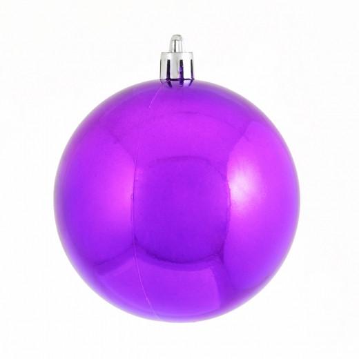 Куля  фіолетова  d-8 см, глянец.