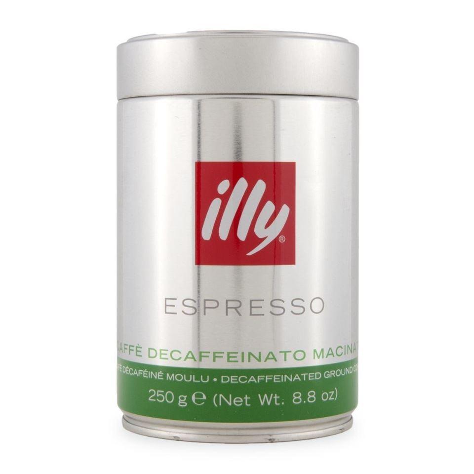 Кофе illy Espresso Decaffeinato / без кофеина ( 250 г) ж/б молотый