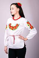 Женская вышиванка маки-подсолнухи, фото 1