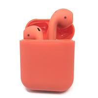 Беспроводные сенсорные Bluetooth наушники Earbuds i12-TWS. Цвет красный