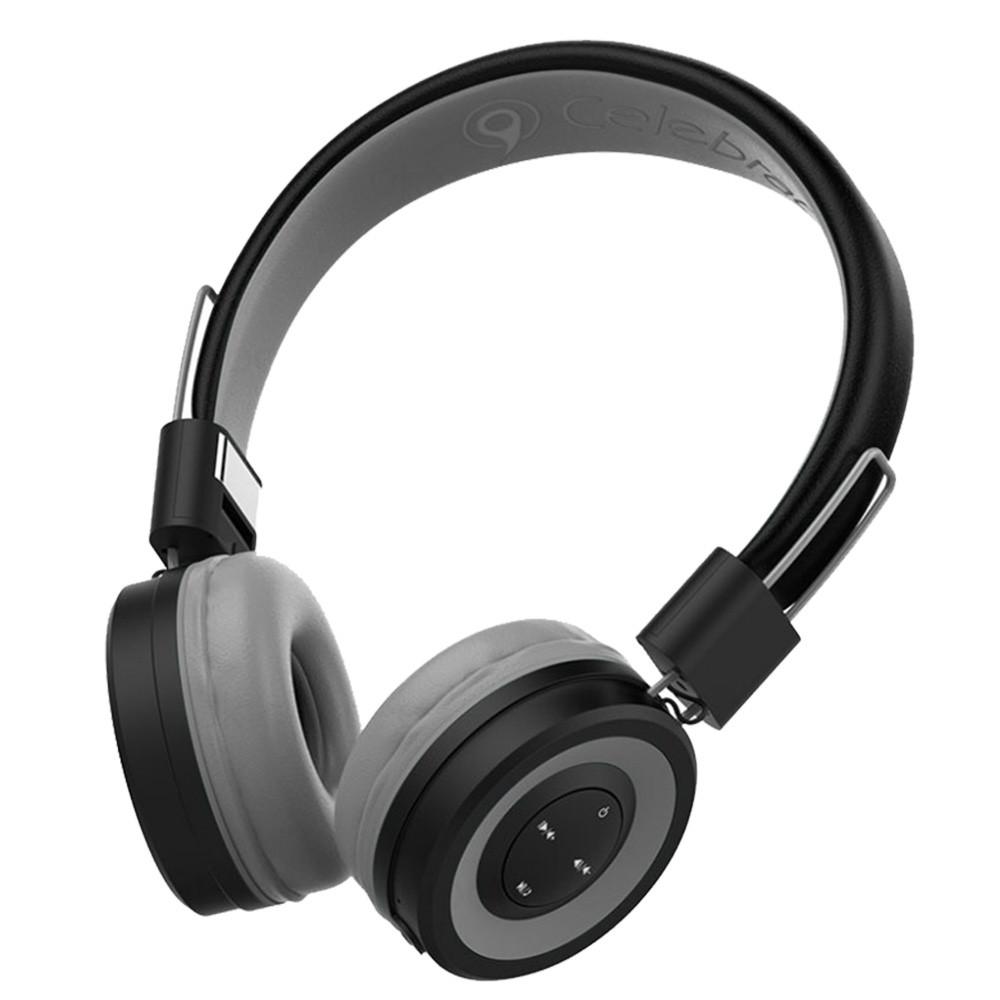 Беспроводные Bluetooth STEREO НАУШНИКИ CELEBRAT A4 СЕРЫЙ
