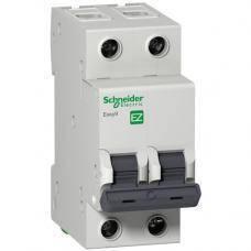 Двухфазный модульный автомат защиты Schneider Electric 25 Ампер 2-полюса х-ка С EASY9