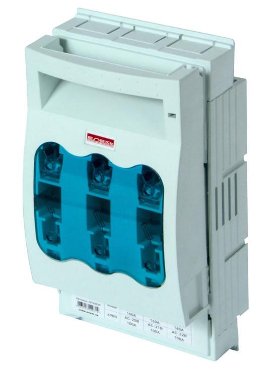 Выключатель-разъединитель под предохранитель e.fuse.VR.160, габарит 00, 3 полюса, 160А ENEXT [i0760039]