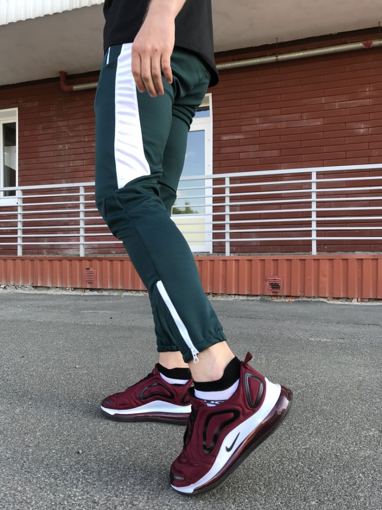 Спортивные штаны LC - Jet зеленый с белым