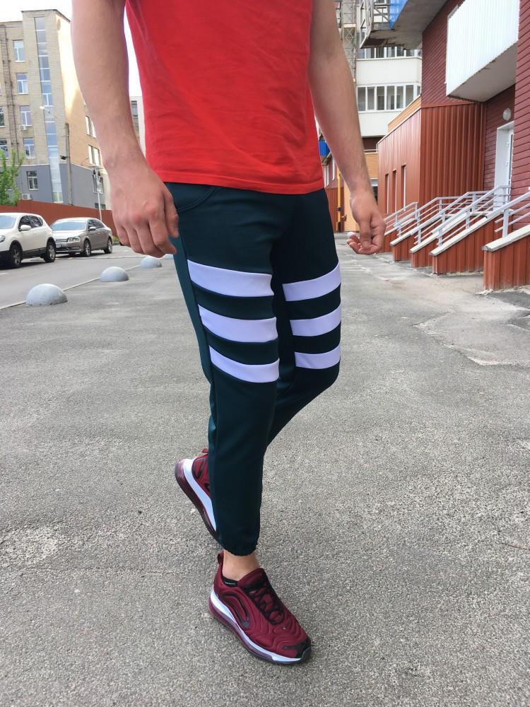 Спортивные штаны LC - Flip зеленый с белым