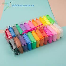 Воздушный, лёгкий пластилин, масса для лепки 24 цвета