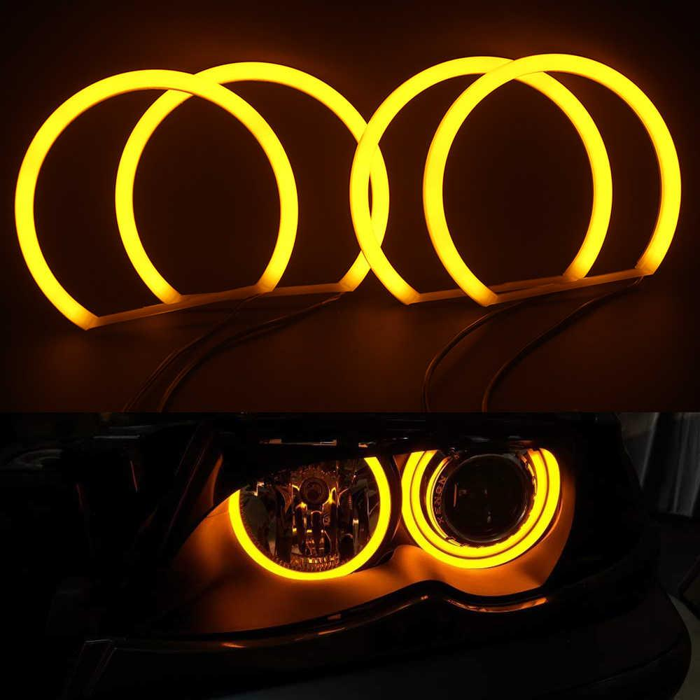 Ангельские глазки кольца (4*131 мм) CCFL для BMW 46 Жёлтые