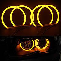 Ангельские глазки кольца (4*131 мм) CCFL для BMW 46 Жёлтые, фото 1