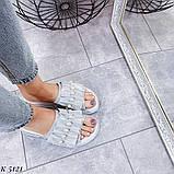 ТІЛЬКИ 36 р!!! Шльопанці жіночі срібло натуральна шкіра, фото 7