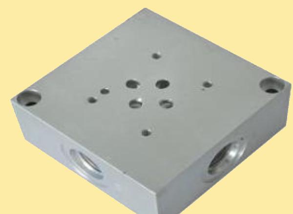 BMA06P2L8X-20  Плита переходная монтажная с клапаном для распределителя Ду6 (ВЕ6, РХ06, 4WE6) на 8шт