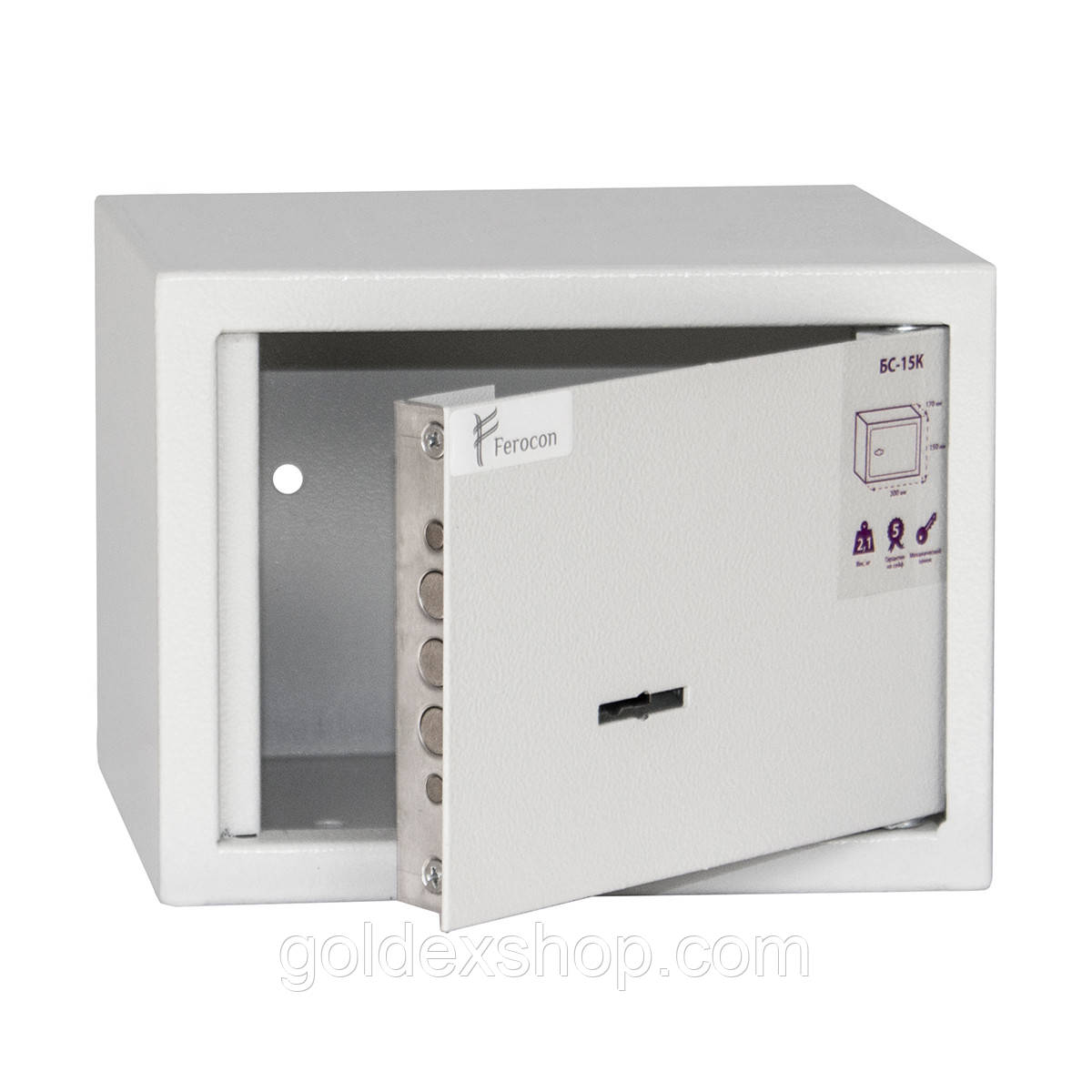 Сейф мебельный Ferocon БС-15К.7035