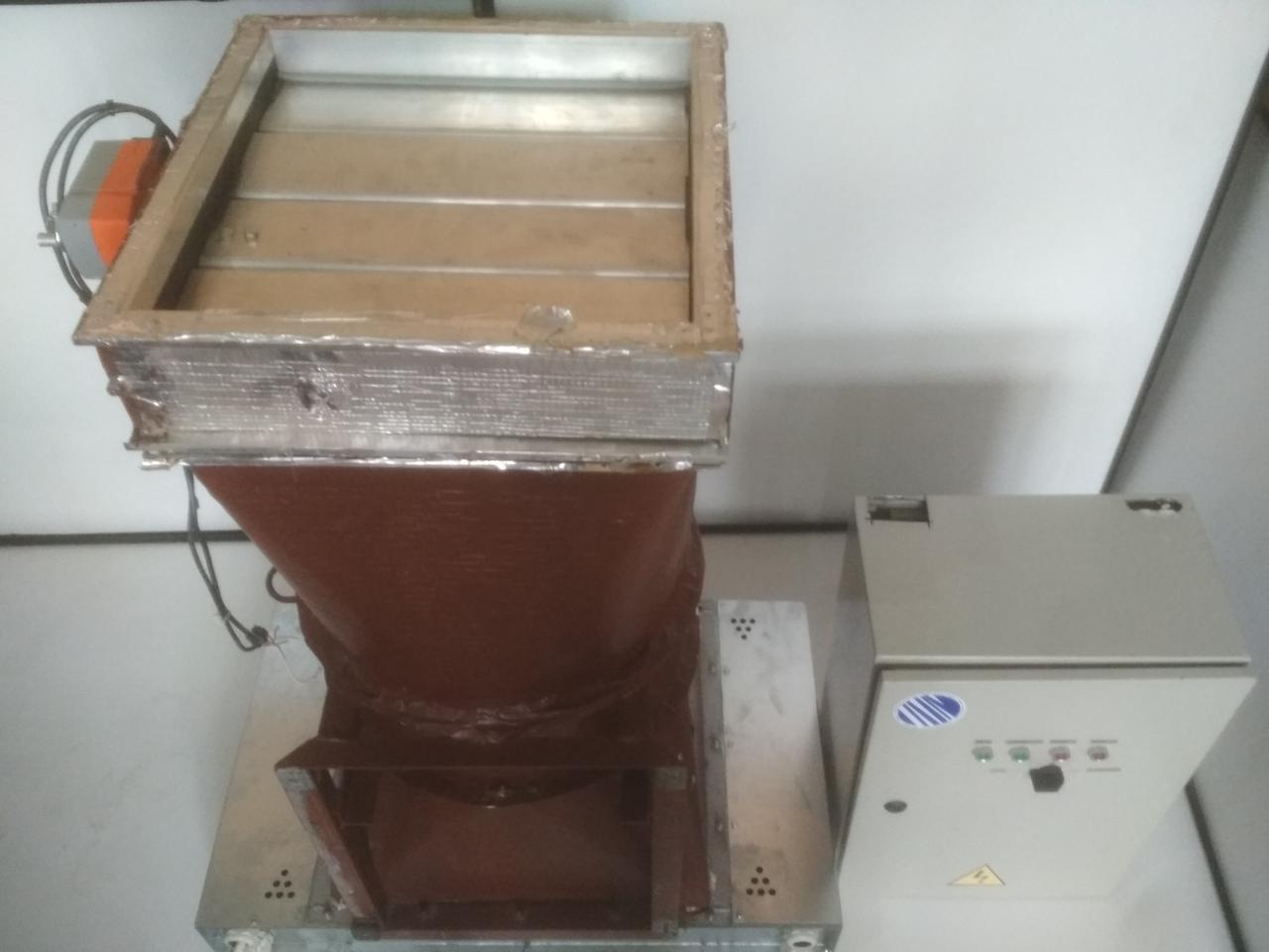 Вентиляционная система промышленная с электрощитом и электроприводом заслонки Б/У