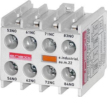 Дополнительный контакт e.industrial.au.m.22, 2nc+2no ENEXT [i0140011]