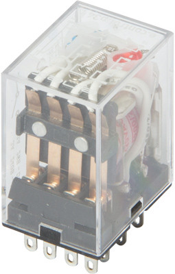 Реле промежуточное с LED-индикацией e.control.p346L, 3А, 230В AC, на 4 группы контактов ENEXT [i.my4n.230ac]