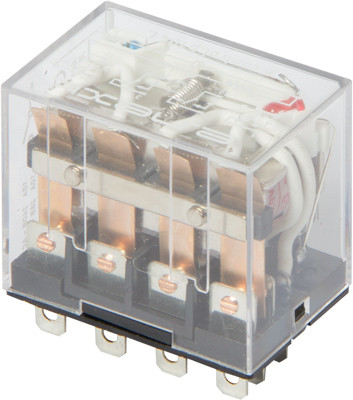 Реле промежуточное с LED-индикацией e.control.p1046L, 10А, 230В AC, на 4 группы контактов ENEXT [i.ly4n.230ac]