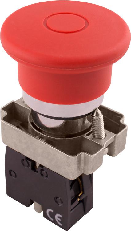 Кнопка «грибок» с фиксацией e.mb.bt42 красный, 1nc Енекст [p0810122]