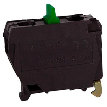 Блок-контакт e.cb.stand.xal.no, зеленый, нормально-открытый ENEXT [s008006]