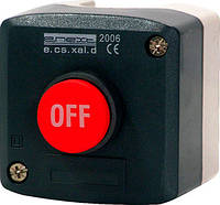 Кнопочный пост e.cs.stand.xal.d.118, stop, выпуклая кнопка Енекст [s006012]