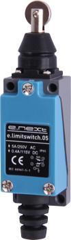 Выключатель концевой e.limitswitch.05, 5А, 1NO+1NC, толкатель с горизонтальным роликом ENEXT [s0070009]