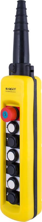 Тельферный пост e.cs.stand.xac.a.6913k, шестикнопочный с кнопкой стоп, с ключём, двухскоростной