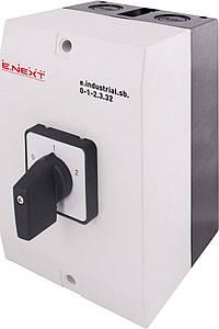 Пакетный переключатель e.industrial.sb.0-1-2.3.32, 3р, 32А (0-1-2) ENEXT [i0360016]