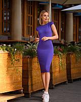 Платье (48-52) футляр Midi фиолет