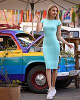 Платье (48-52) футляр Midi ментол