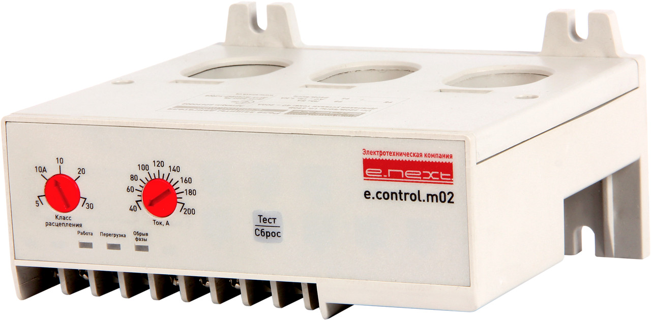 Реле защиты двигателя e.control.m02, 40-200А ENEXT [p0690002]