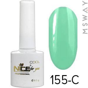 NICE Гель-лак Cool белый флакон 8.5ml Тон 155-C светло мятно алоэ эмаль, фото 2