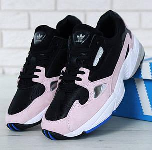 Женские кроссовки Adidas Falcon Black Pink