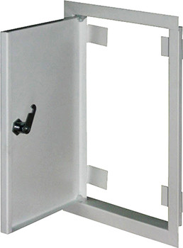 Дверцы металлические ревизионные e.mdoor.stand.300.400.z 300х400м c замком Енекст [s0100044]