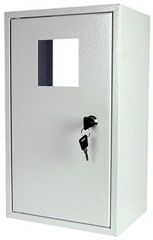 225х410х170 Шкаф металлический, под 1-ф. счетчик (пустой), навесной, с замком Енекст [s0100001]