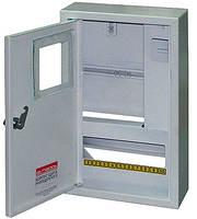 Шкаф e.mbox.stand.n.f1.10.z металлический, под 1-ф. счетчик, 10 мод., навесной, с замком ENEXT [s0100015]