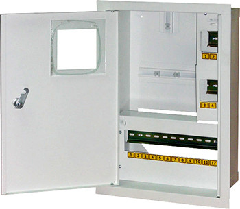Шкаф распределительный e.mbox.stand.w.f1.16.z.e под 1ф  элек. счетчик+ 16 мод. c замком ENEXT [s0100070]