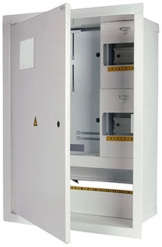 Шкаф распределительный e.mbox.stand.w.f3.24.z.е под трехфазный электронный счетчик+ 24 мод.страиваемый