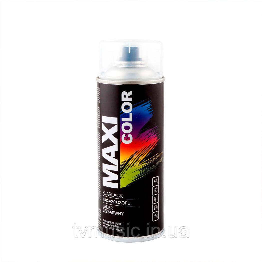 Лак бесцветный глянцевый Maxi Color MX0005 400 мл