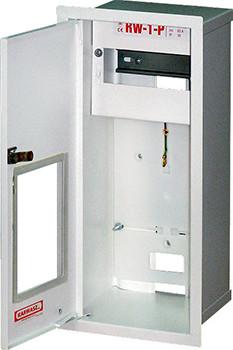 Шкаф распределительный e.mbox.RW-1-P-Z/О мет. встраиваемый, 1-ф. счетчик,6 мод. замком окном, 395х175х165 мм ENEXT [RW-1-P Z/О]