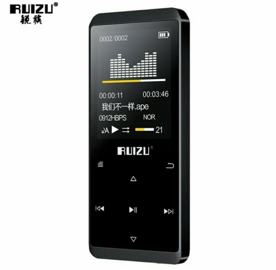 MP3 Плеер RuiZu D02 8Gb Hi-Fi Bluetooth Original Черный