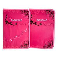 Папка А4 на молнии Мультяшки картон для труда 7871 Black Cat