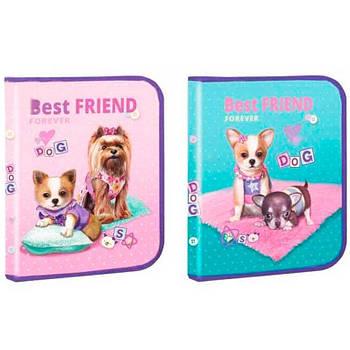 Папка для тетрадей B5 Kidis картонная на молнии Best Friend 13662
