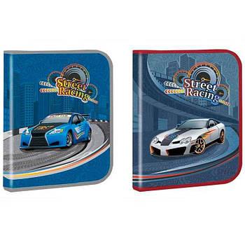 Папка для тетрадей B5 Kidis картонная на молнии Street Racing 13664