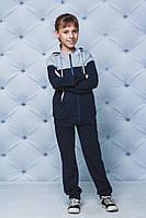 Спортивный костюм детский темно-синий серые вставки