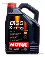MOTUL 8100 X-CESS  5W-40 5L, фото 1