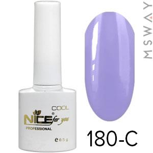 NICE Гель-лак Cool белый флакон 8.5ml Тон 180-C васильково фиолетовая эмаль