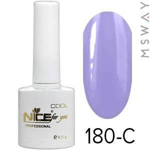 NICE Гель-лак Cool белый флакон 8.5ml Тон 180-C васильково фиолетовая эмаль, фото 2